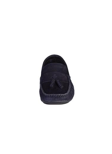 Kiğılı Süet Püsküllü Loafer Ayakkabı Lacivert